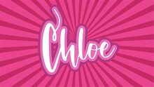 Chloe Typography With Japanese Pink Sunburst