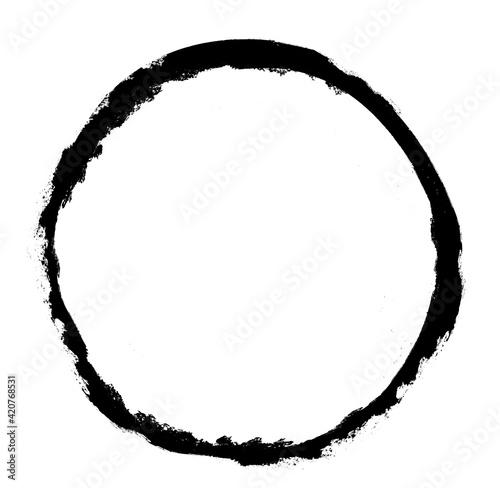 Fototapeta Watercolor circle on white as background obraz na płótnie