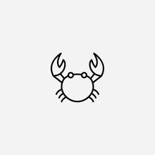 Crab Vector Icon Sign Symbol
