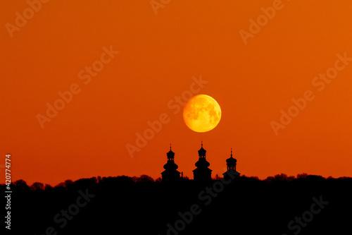 Fototapeta sunset in the city obraz
