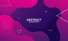 Colorful Geometric Background. Liquid Color Background Design. Fluid Shapes Composition. Vector Illustration