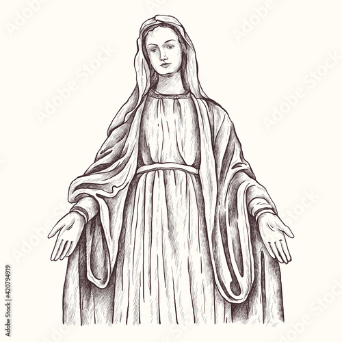 Fotografia Holy Virgin Mary, Mother of God, Virgin Mary, Madonna, Mother of Jesus Christ, Christianity