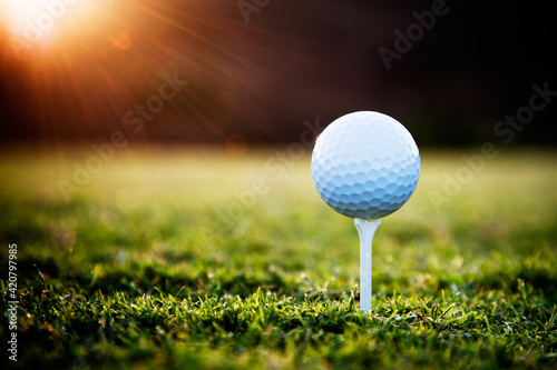 Fotografie, Tablou golf ball on tee