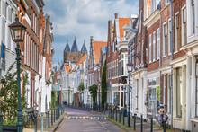 Street In Haarlem, Netherlandsм