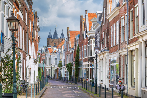 Fotografia, Obraz Street in Haarlem, Netherlandsм