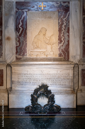 Fototapeta Dante poet sepulcher
