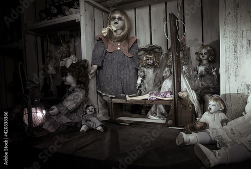 Papel de parede Scary dead dolls and the gallows