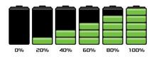 Battery Charge Level Set Illustration