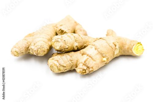 Fototapeta Ginger isolated on white background obraz