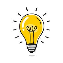 Vektor Glühbirne - Idee / Kreativität / Wissen / Energie