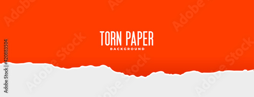 red and white torn paper effect background