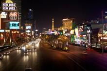 Las Vegas Strip Casinos Lit Up At Night