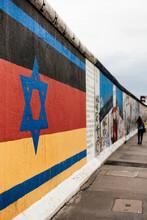Detail Of Mural, East Side Gallery (Former Berlin Wall), Muhlenstrasse, Berlin, Germany