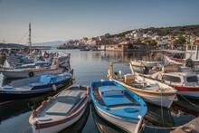 Harbor And Fishing Boats, Crete, Greece