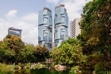 View Of Park And Lippo Centre, Hong Kong, China
