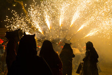 Correfoc (Running With Fire) Festival, Mallorca, Spain