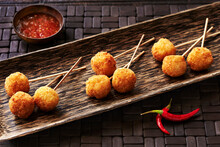 Still Life With Panko Lollipops, Asian Canapes