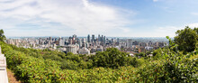 Mount Royal Lookout View To City, Montreal, Canada