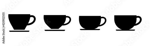 Fototapeta coffee cup icon set. cup a coffee icon vector. obraz