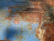 Close Up Texture Of Rusty Metal For Background.