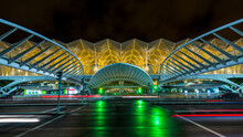 Oriente Station, International Convention Center At Night, Lisbon, Portugal