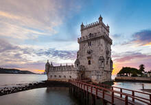 Torre De Belém At Sunset, Lisbon, Portugal