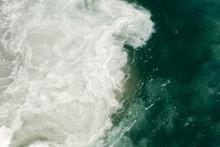 Sea Foam Being Churned Up