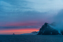 English Strait At Sunset, Antarctica