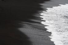 Wave On Black Sandy Beach, La Palma Island, Canary Islands, Spain