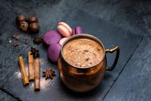 Hot Chocolate, Macaroons, Cinnamon Sticks, Star Anise