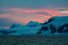 Dramatic Sunset, Gerlache Strait, Antarctica, Antarctic Peninsula