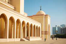 Exterior Of Al Fateh Grand Mosque In Manama