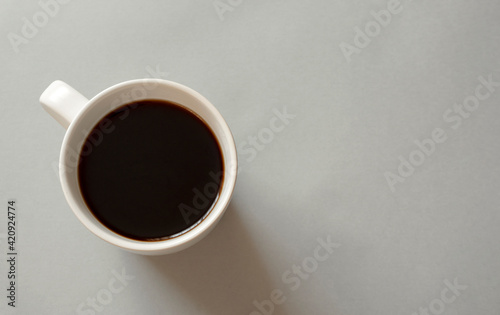 Obraz Close-up of coffee seen from directly above.  真上から見たコーヒーのクローズアップ - fototapety do salonu