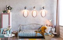 Cozy Stylish Kids Room In Vintage Style
