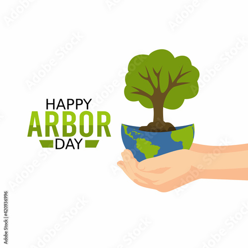 Photo vector graphic of happy arbour day good for happy arbour day celebration