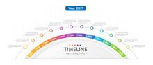 Infographic Template For Business. 12 Months Modern Timeline Diagram Calendar, Presentation Vector Infographic.