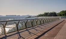 Pedestrian Glass Bridge In Kyiv, Ukraine