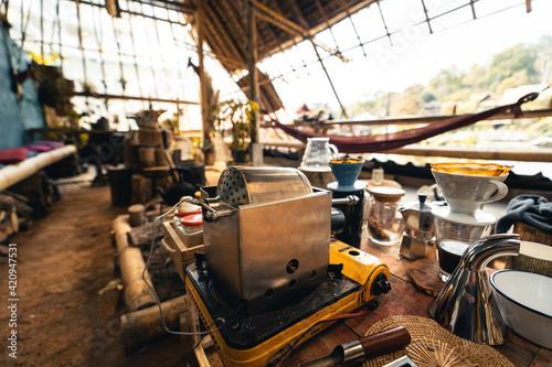 Home-made Home-made coffee roasters Fototapeta