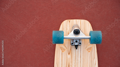 Canvastavla Surf skate board on red floor  background skating skateboard