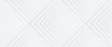 Neumorphism Vector Background. Minimal Style White Neumorphism Website Banner. Neumorphic UI UX Interface Design. Modern Webdesign. Geometric White Ultrawide 3d Wallpaper.