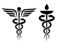 Caduceus Vector Icon, Medical Snake Symbol