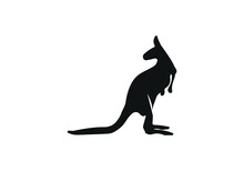Kangaroo Icon Illustration Isolated Vector Sign Symbol