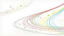 美しい五色の曲線背景素材