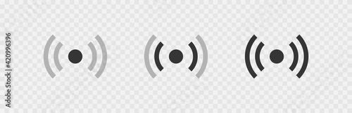 Fotografia Wireless antenna communication set  icons