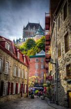 Lower Old Town Basse-Ville And Chateau Frontenac In Background
