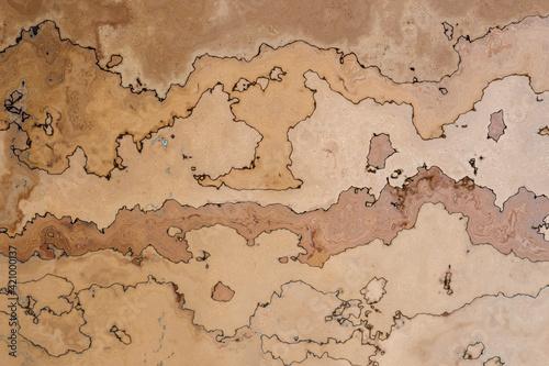 Fototapety, obrazy: Beige-brauner, marmorierter  Hintergrund oder Textur