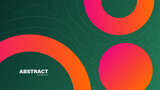 Abstract green and red circle modern background with copy space, vector.