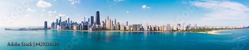 Fotografia Aerial view of Chicago downtown Illinois USA