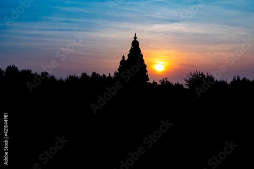 Fotografia, Obraz Silhouette Effect Of Shore temple built by Pallavas is UNESCO World Heritage Sit