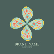 Ethnic Colorful Abstract Flower Pattern Logo